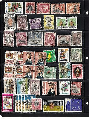BRITISH COMMONWEALTH NICE LOT ACCUMULATION OF 100+ With high values  Mint & Used