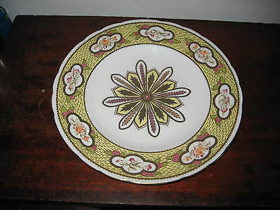 Lavish Hand Painted Cabinet Plate By M E Townsend