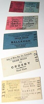 Lot A Isle Of Man Railway Co. Rare Tickets, Pre 1968 Date When Peel Line Closed
