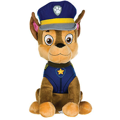 "New Official 12"" Paw Patrol Sitting Chase Pup Plush Soft Toy Nickelodeon Dogs"