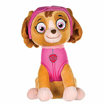 "New Official 12"" Paw Patrol Sitting Skye Pup Plush Soft Toy Nickelodeon Dogs"