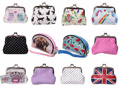 Childrens Kids Ladies Small Coin Cards Purse Small Make Up Bag - 24 Choices