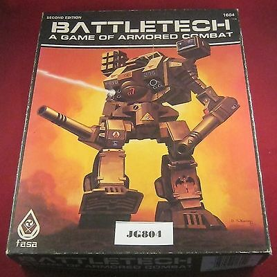 OOP Battletech 2nd Edition A Game of Armoured Combat 1604 (FASA:1985) Ref JG804