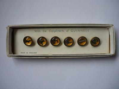 Vintage Guinness Advertising Waistcoat Buttons Boxed  Gilroy Artwork
