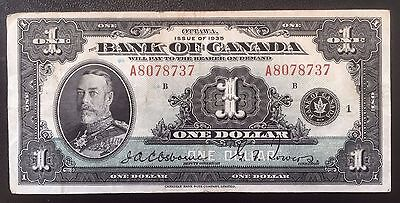 1935 Bank of Canada $1 English, Series A - Fine