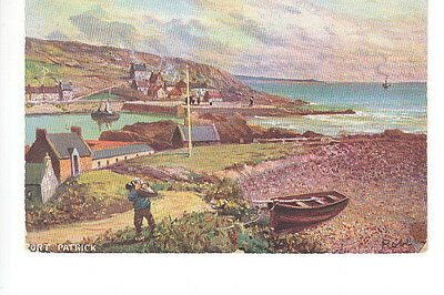 Portpatrick, Wigtownshire art style postcard