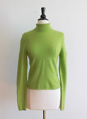 TSE Surface Green Cashmere Sweater Turtleneck Pullover Jumper Size M Medium EUC