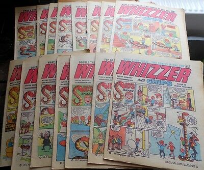 15 x Whizzer & Chips comics from 1972 very good condition