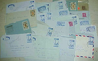 Nigeria  33 Air Letters  Mostly To  Usa