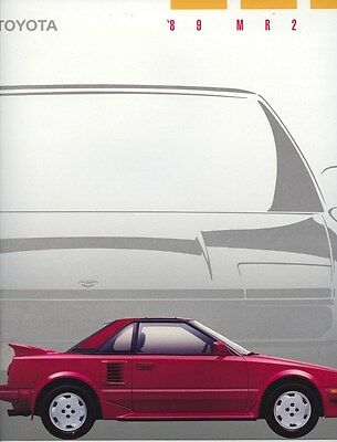 1989 Toyota MR2 Brochure my8189