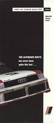 1989 Audi 90 Turbo Quattro IMSA GTO Racing Race Car Brochure my8199