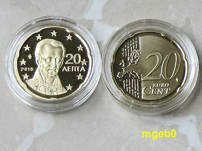Griechenland 2016 -20 Cent  aus KMS in PP,PROOF