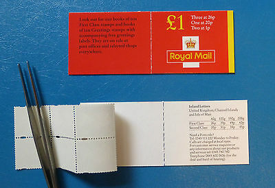 GB STAMP BOOKLET FH41a :: inc. pane Y1760L :: 1998 45p rate and no overseas