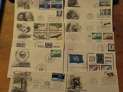 USA 1970s   First Day Of Issue Covers Lot 13 pieces