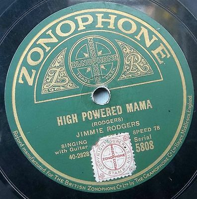 Jimmie rodgers. ' High powered mama. '