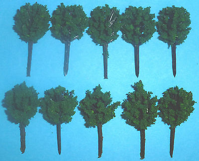 10 x 4cm Little Very Dark Green Trees for your Layout:New: