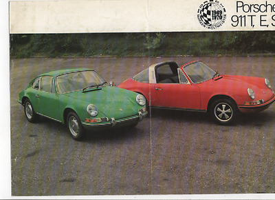 Very Scarce 1970 Porsche Brochure  911T 911E 911S  Coupe  Targa