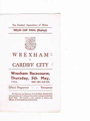 Wrexham v Cardiff City 59/60 Welsh Cup Final
