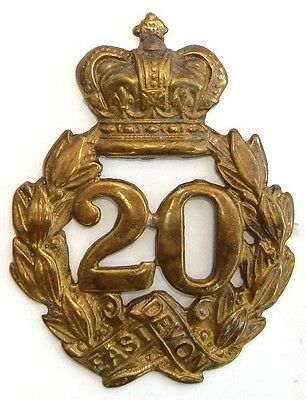 Victorian 20Th Lancashire Fusiliers 1St Type Glengarry Badge