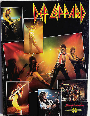DEF LEPPARD BOOK - Play It Like It Is Music / Lyric Book 1983 120 Page w/ Pics
