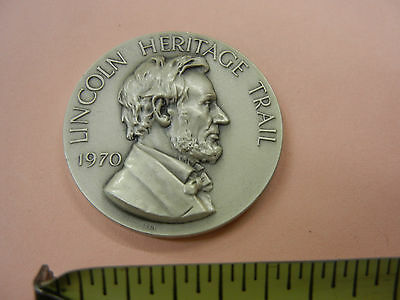 Lincoln Heritage Trail 1970 medal Medallic Art Co. 999 fine SILVER