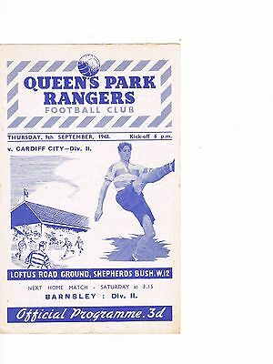 Queens Park Ramgers v Cardiff City 48/9