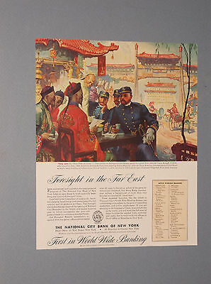 1946 National City Bank Of Ny Ad Shanghai China And Admiral Louis Kempff