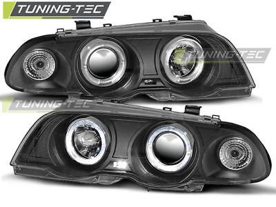 Coppia Fari Anteriori Bmw E46 05.98-08.01 Angel Eyes Black Look