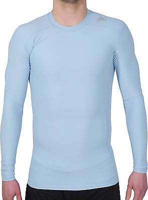 Adidas Tech-Fit Chill Long Sleeve Mens Compression Top - Blue