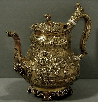English Sterling Coffee Pot         CHINESE STYLE                  1827