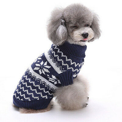 #Christmas Pet Dog Puppy Warm Sweater Jumpsuit Hoodie Clothes Outwear L