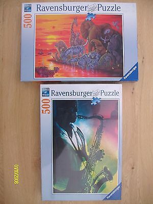 Two Ravensburger 500 Piece Jigsaws (one is unopened)