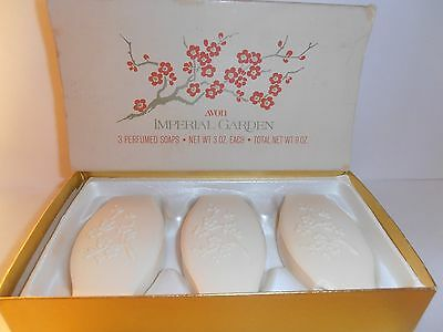 Vintage Avon Imperial Gardens 3 Perfumed Soaps with Box