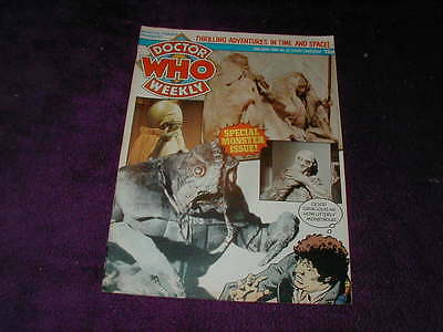 Doctor Who Dr. Weekly No.37, 1980 Special Monster Issue, Marvel Comics