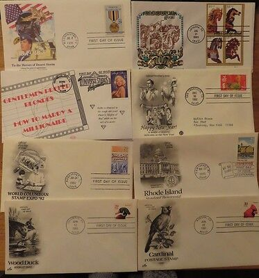 USA 1990s   First Day Of Issue Covers Lot 8 pieces