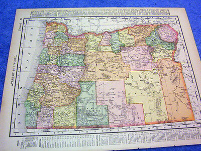 Antique Map Of Oregon W/ Railroads, Mountain Ranges Nicely Illlustrated     1901