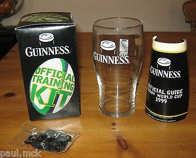 Guinness Official 1999 Training Kit with Pint Glass - Rare