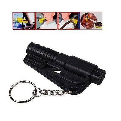 Emergency Keyring Car Window Glass Breaker Hammer Seat Belt Cutter Keychain UK