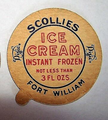 SCOLLIES DAIRY, Fort William, Ontario - 1953 DiXIE CUP LID - Robert Taylor photo