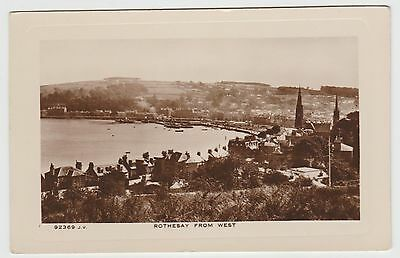 """""""Rothesay from West"""" in 1924. A Real Photo PPC via J.S. Dougall, VG Unused"""