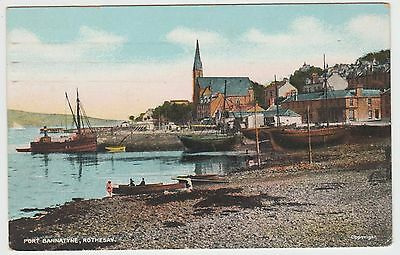 Port Bannatyne Boats in ~1903 Vintage Tinted PPC, by G.D & D., Good, Used U.S.A.