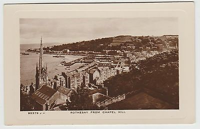 """""""Rothesay from Chapel Hill"""" in 1924. A Real Photo PPC by J.S. Dougall, VG Unused"""
