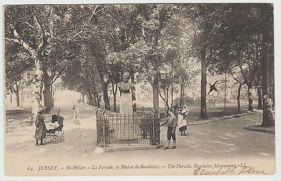 Baudains Statue, St.Hélier Children, in ~1907 Collotype PPC, LL 64, G. Used.