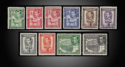1942 Somaliland Protectorate King George Vi Sct. 84-92,95 H To Lh