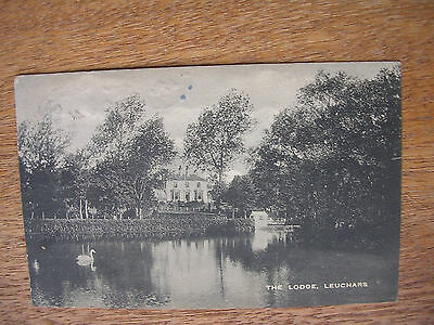 Leuchars, The Lodge, P/m 1921, Swan On Pond