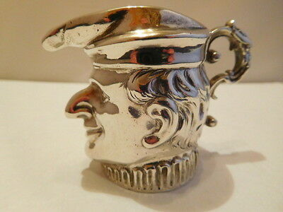 Superb Antique Solid Silver Novelty Dutch Creamer - 1847 (Mr. Punch ??)