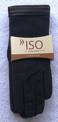 NWT, Women's, Brown, Isotoner,  lined stretch gloves, 1 Size