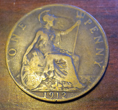 1912 British Penny George V Coin