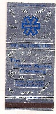 The Timms Spring Company Elyria OH Lorain County Matchcover 021317