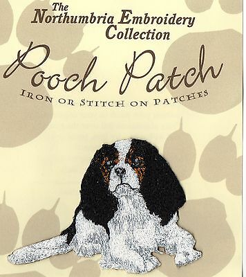 Cavalier King Charles Tricolour EMBROIDERED  Pooch Patch